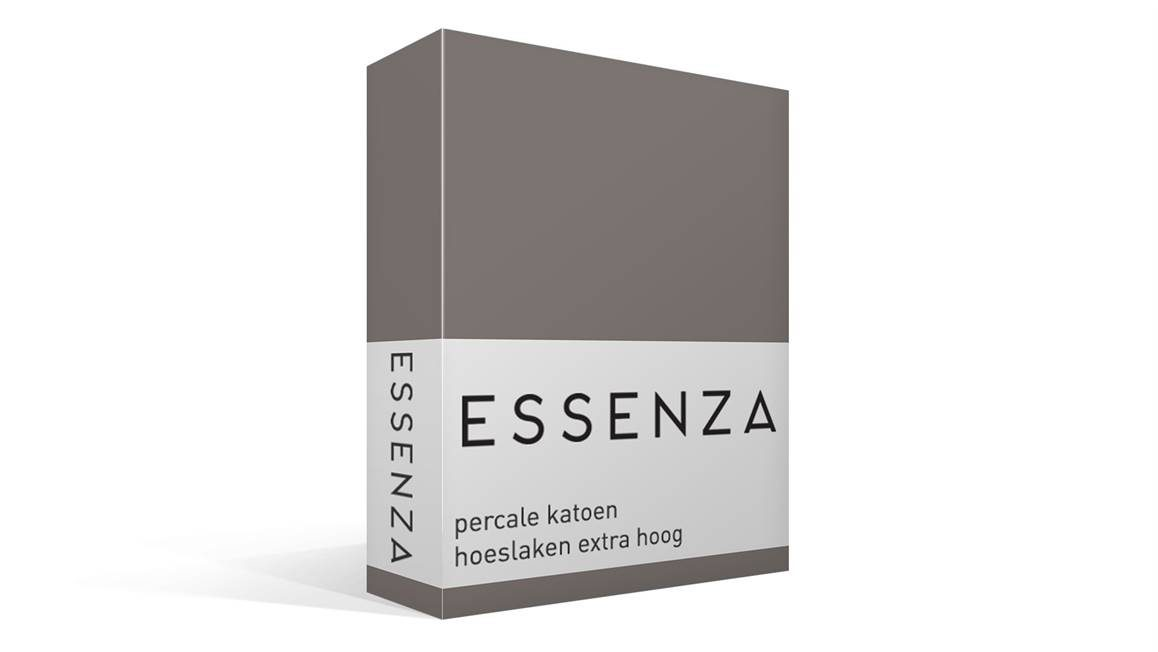 essenza premium drap housse en percale de coton grand bonnet gris acier. Black Bedroom Furniture Sets. Home Design Ideas