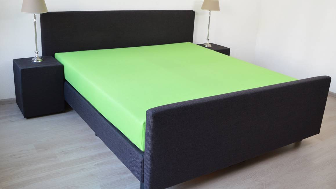 snoozing drap housse en jersey stretch vert lime. Black Bedroom Furniture Sets. Home Design Ideas