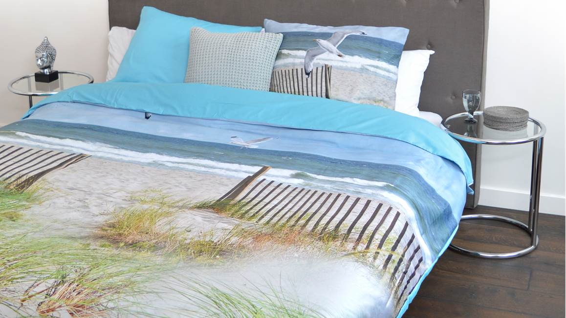snoozing beach housse de couette en flanelle multicolore. Black Bedroom Furniture Sets. Home Design Ideas