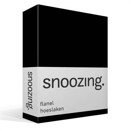 drap housse flanelle snoozing noir. Black Bedroom Furniture Sets. Home Design Ideas